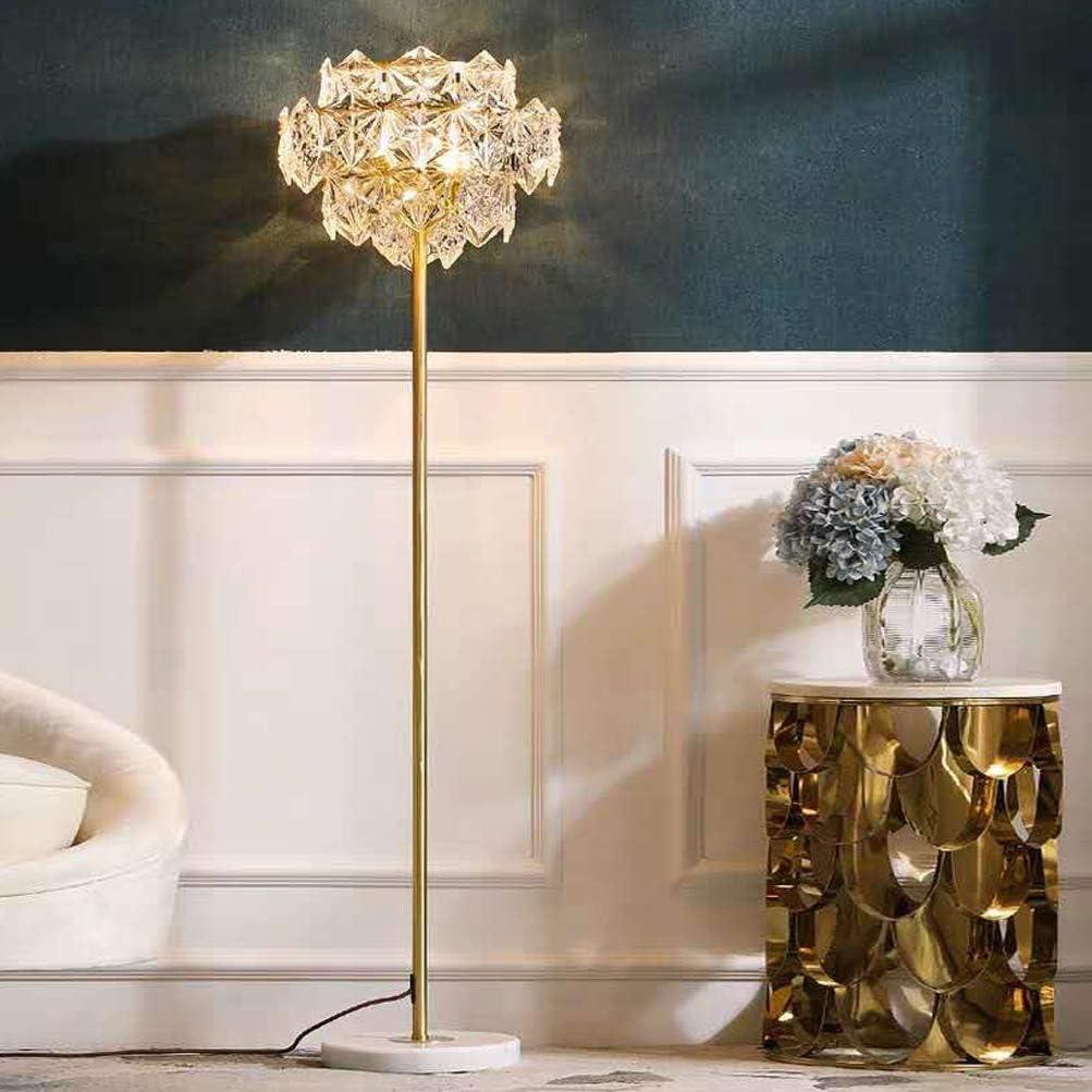 Achnc Stehlampe Kristall Gold H65 Messing Stehleuchte Wohnzimmer