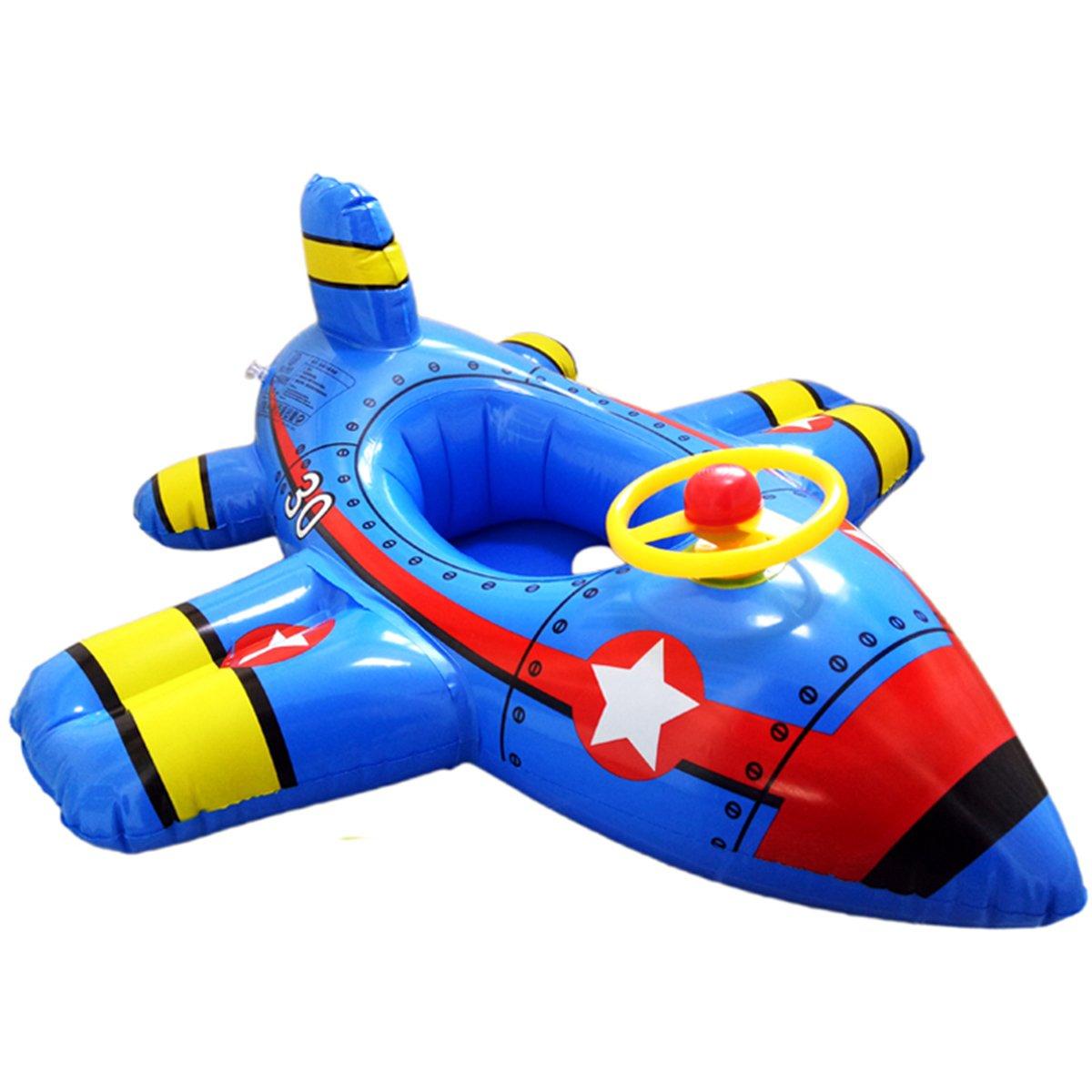Clerfy Acc Flotador Flamenco para Niños y Adultos, Flamenco Hinchable De Piscina, Lindo el avión Colchonetas Piscina para Baños De Sol (2)