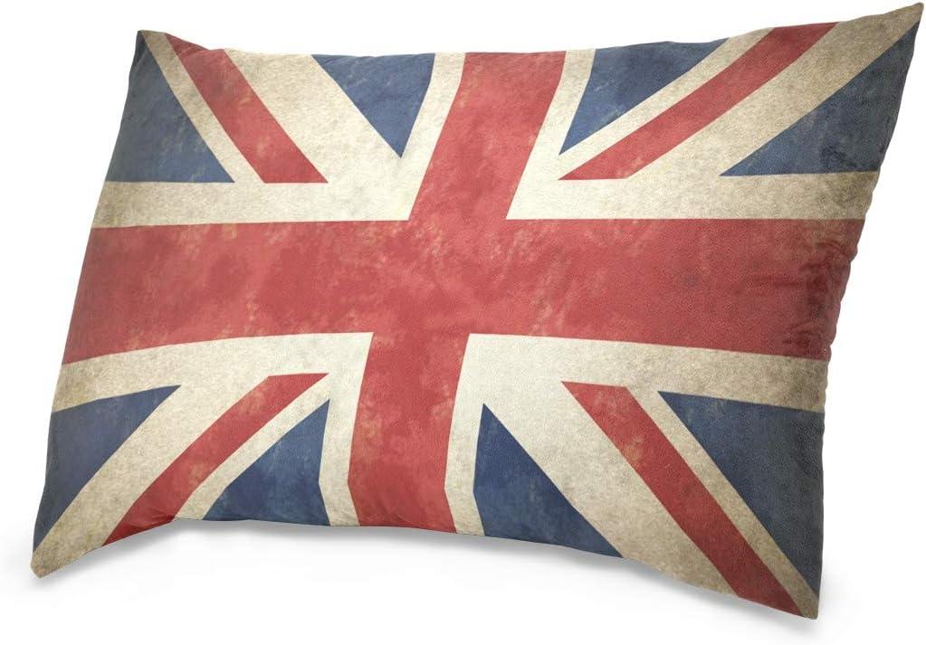 Linomo - Funda de cojín decorativa de 40,6 x 60,9 cm, diseño de bandera del Reino Unido, algodón, Varios Colores, 50 x 65 cm: Amazon.es: Hogar