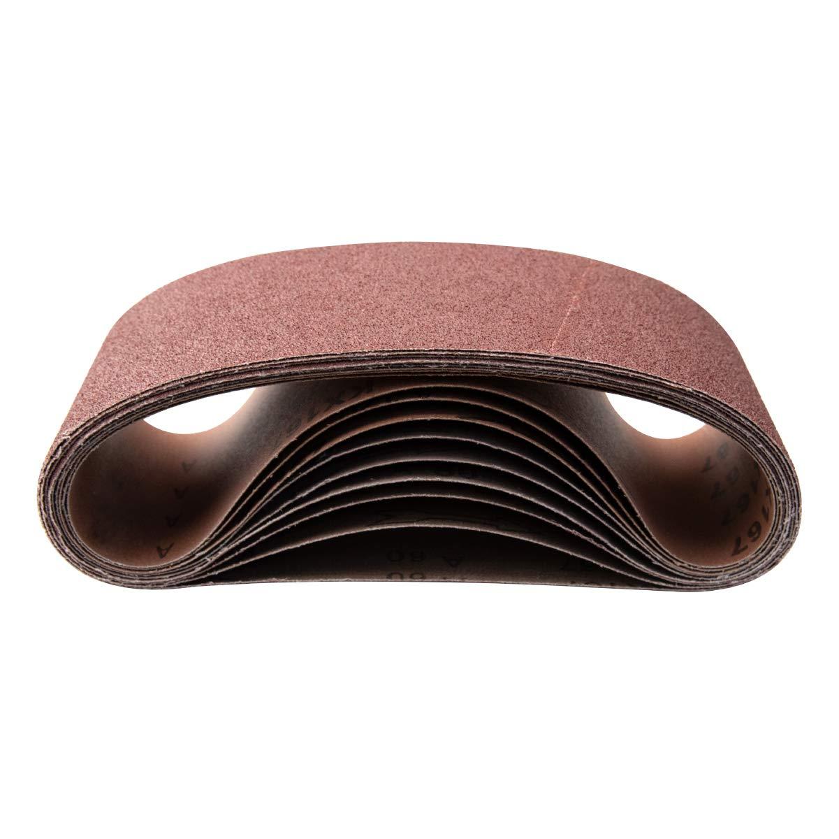 3-Pack POWERTEC 110133 4-Inch x 36-Inch 100 Grit Aluminum Oxide Sanding Belt