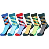 EGOGO 5 Pairs Men's and Women's Crew Socks Casual Unisex Funky Cool Dress Novelty Cotton Socks E611-4