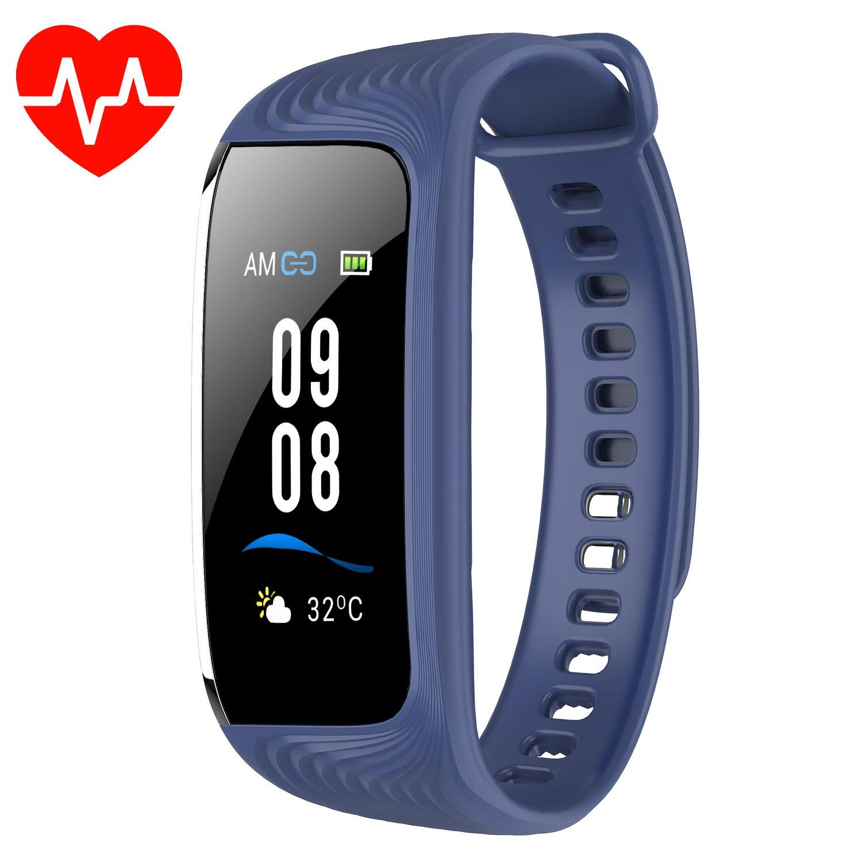 WiMiUS Pulsera Actividad, Impermeable IP68, Pulsera Inteligente con Monitor de Calorías, Sueño, Podómetro y Ritmo Cardíaco, Reloj Fitness con GPS, Cámara Control y Notificación para iOS & Android product image