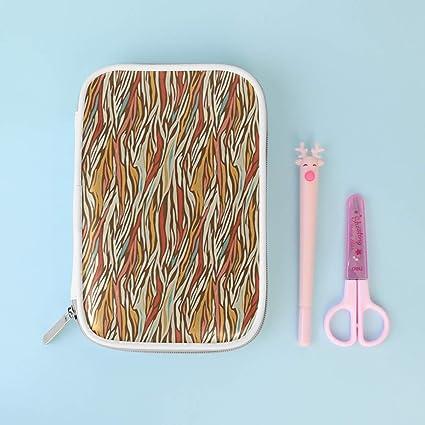 Soloatman - Estuche para lápices de gran capacidad, diseño de cebra, multicolor, bolsa para cosméticos, bolsa para bolígrafos con cremallera para niño y niña: Amazon.es: Oficina y papelería