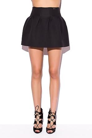 Q2 Mujer Falda negra de neopreno - XS - Negro: Amazon.es: Ropa y ...