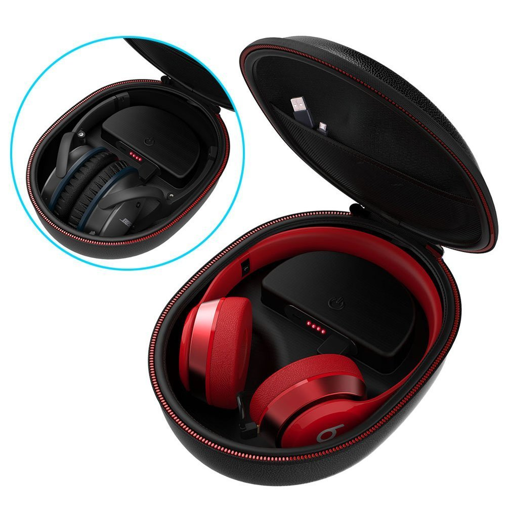 Smatree Charging Case for Beats Solo2/Solo3/Studio3 Wireless On-Ear Headphone(Headphone is NOT Included)
