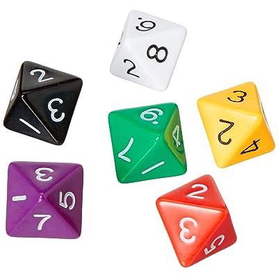 8 lados dados ( paquete de 12): Juguetes y juegos