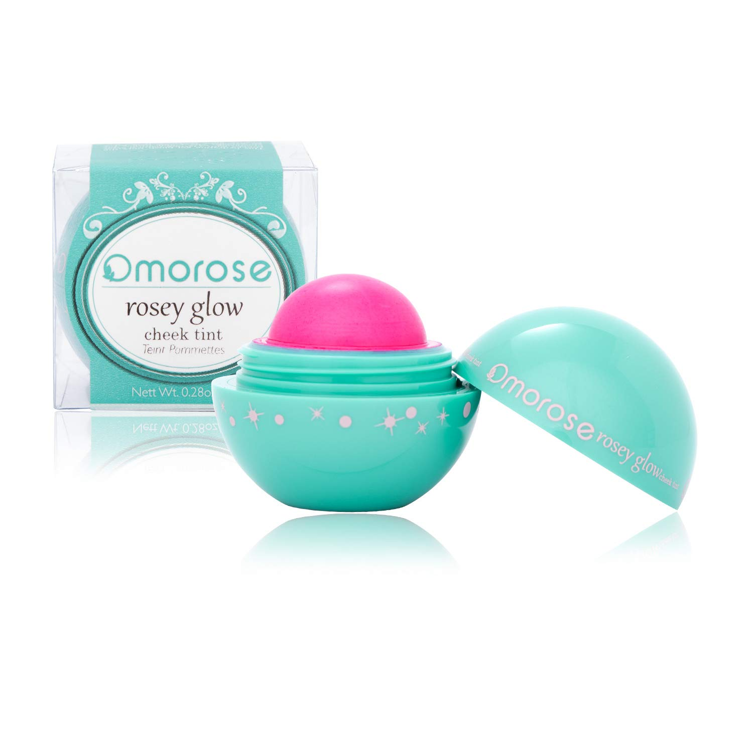 Omorose Cosmetics Colorful Pigmented Natural Sheer Opaque Blendable Flush Glow Glowy Dewy Highlight Cruelty Free Beauty Makeup Glow Cream Gel Hydrating Lip Cheek Tint Blush, First Love Hot Pink