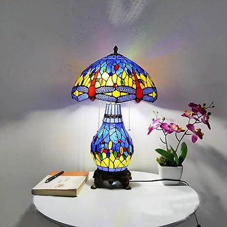 HBJP Lámpara De Mesa Doble Lámpara De Cristal Hecha A Mano ...