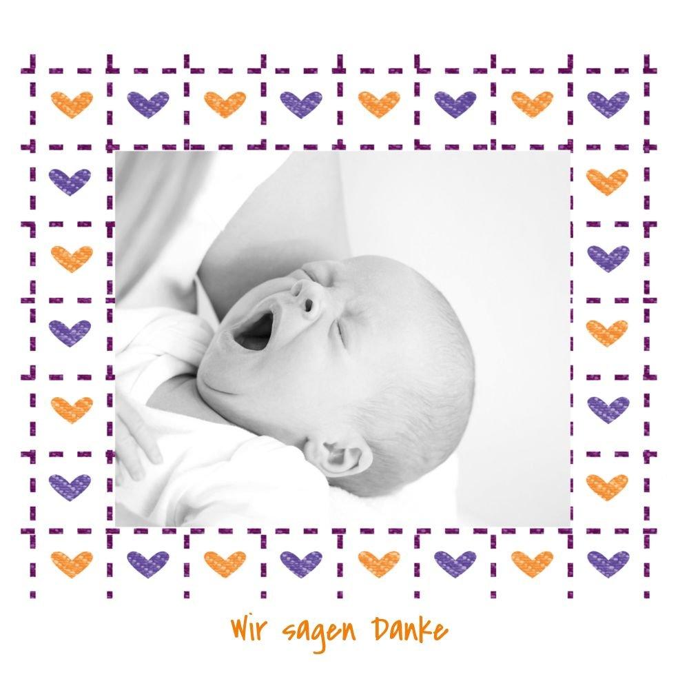 Kartenparadies Danksagung für Geburt Geburt Geburt Baby Dankeskarte Herzrahmen, hochwertige Danksagungskarte Baby inklusive Umschläge   100 Karten - (Format  145x145 mm) Farbe  MattBlau B01MRBYKIS | Ein Gleichgewicht zwischen Zähigkeit und Härte  | Mangelwar 2be472
