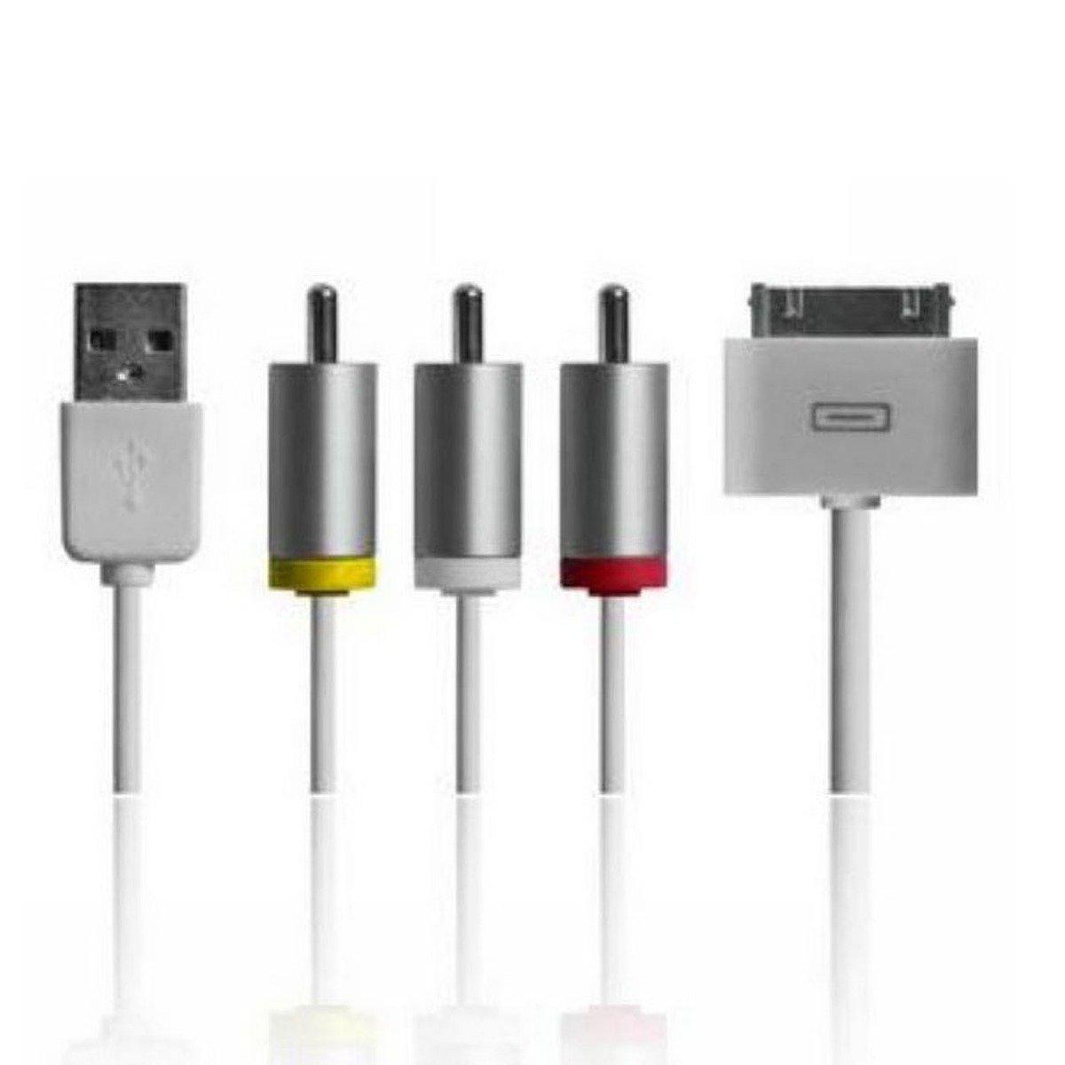 Vídeo compuesto Cable AV a TV RCA cargador USB iPad 2 3 ...