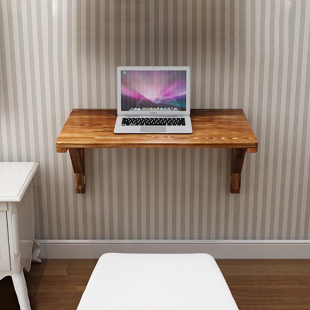 壁掛け折りたたみテーブルソリッドウッドダイニングテーブル壁掛けコンピュータテーブルダブルブラケットデスク (サイズ さいず : 60*40cm) B07DNLH13S 60*40cm 60*40cm