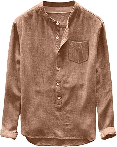 ZODOF Camisa Hombre Slim Fit Manga Larga Talla Grande Botones Camiseta Tops Moda Casual Traje Formal Boda Negocios Primavera Verano: Amazon.es: Ropa y accesorios