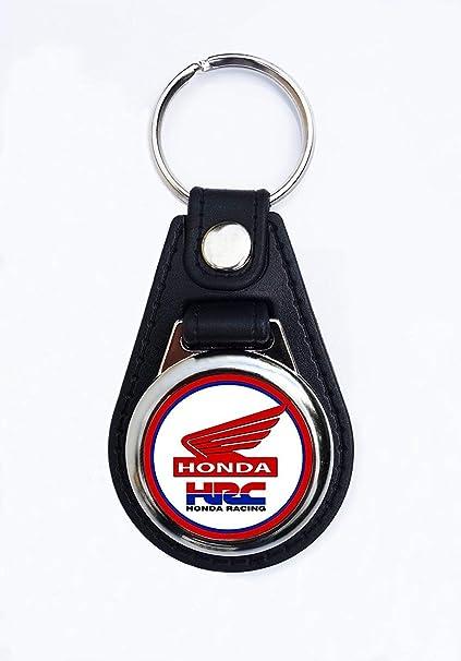 Vintage Sign Designs Calidad Premium Imitación Cuero Motocicleta Honda Llavero / Mando