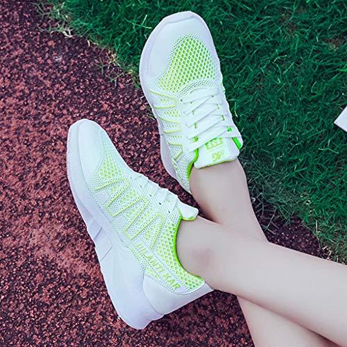 Para Con Correa Deportivos Mujer Cruzada Zapatillas Fondo Malla Plano Deportivas Zapatos De Verde x4CXR