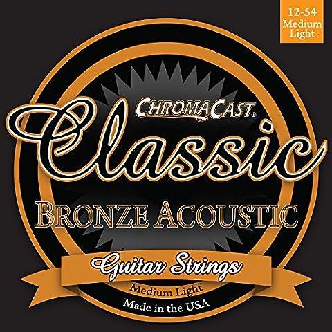 ChromaCast CC-GS-CB-ML Classic Bronze Medium-Light Acoustic Guitar Strings, .012-.054 (Acoustic Classic)