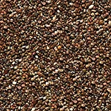 Safe & Non-Toxic 1 Pound Bag of ''Acrylic Coated'' Gravel & Pebbles Decor for Freshwater & Saltwater Aquarium w/ Basic Dark Natural Earthy Clay Tone Small River Rock Style [Brown & Tan]