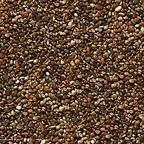 Safe & Non-Toxic 1 Pound Bag of ''Acrylic Coated'' Gravel & Pebbles Decor for Freshwater & Saltwater Aquarium w/ Basic Dark Natural Earthy Clay Tone Small River Rock Style [Brown & Tan] by mySimple Products