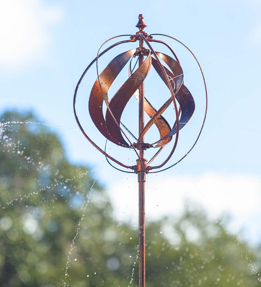 Hydro Wind Spinner and Sprinkler, Copper Finish
