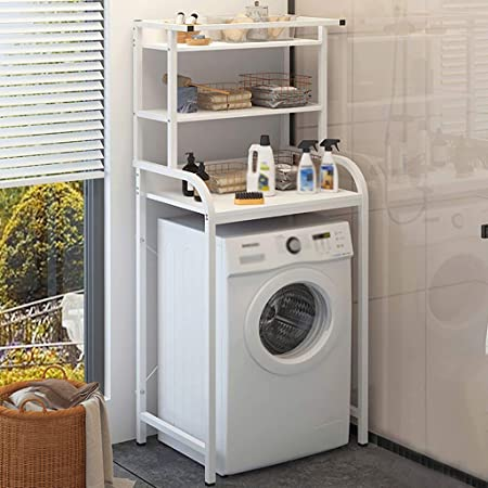 Estante de la lavadora Ropa del estante, la arandela de acero al ...