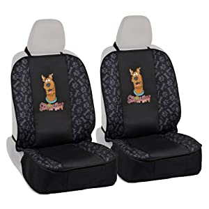BDK All Protect Scooby Doo Front Seat Covers (2 Piece) Universal Fit for Car Sedan Truck SUV (Waterproof Easy Install Official WB Licensed)