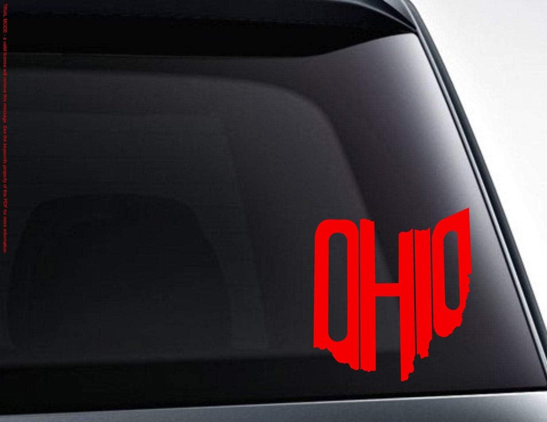 Tamengi Ohio Decal, Ohio Shape Word Art PVC Decal Sticker Car Decal, Car Sticker, Laptop Decal, Laptop Sticker 15inch
