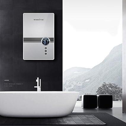 Calentador de agua eléctrico instantáneo, termóstato casero Tubo de agua caliente de acero inoxidable Calentador de agua 3 segundos220V 7500W Baño de ducha ...