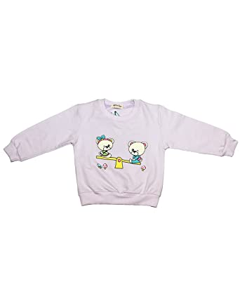 36f41caaf Babeezworld Baby Boy s   Girl s Cotton Semi Winter Sweatshirt Round ...