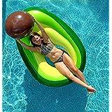 Flōtēz Inc. Luxury Inflatable Avocado Pool Float Lounge 5.5 x 3 Foot With Beach Ball Pit