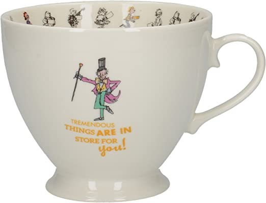 Roald Dahl Charlie /& The Chocolate Factory Footed China Mug Coffee Tea Cup Gift