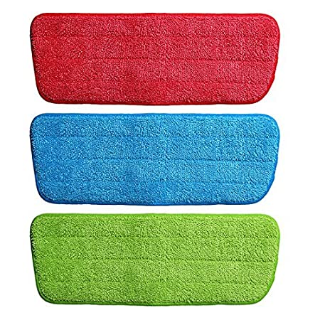 Gion Set of 3pcs Replacement Mop Head Pads Spray Mops Refill Cloth Heads Pads Microfiber Mop Cleaning Pads for Spray Mops
