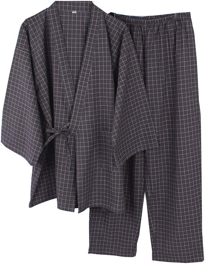 Traje de Pijama de Kimono de Gasa de Estilo japonés para Hombre de Estilo japonés- # A02