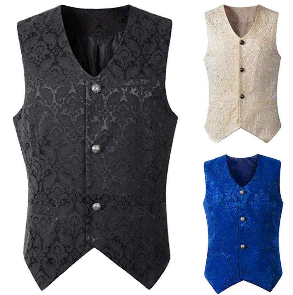 Nobility Baby Men's VTG Brocade Gothic Steampunk Tuxedo Vest Waistcoat 4
