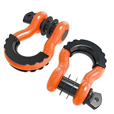 "ORCISH Shackles 3/4"" (2 Pack) D Ring Shackle Off Road Shackles 4.75 Ton (10450lbs) Maximum Break Strength with 7/8'' Pin Heavy Duty D Ring for Jeep Vehicle Recovery: Automotive"