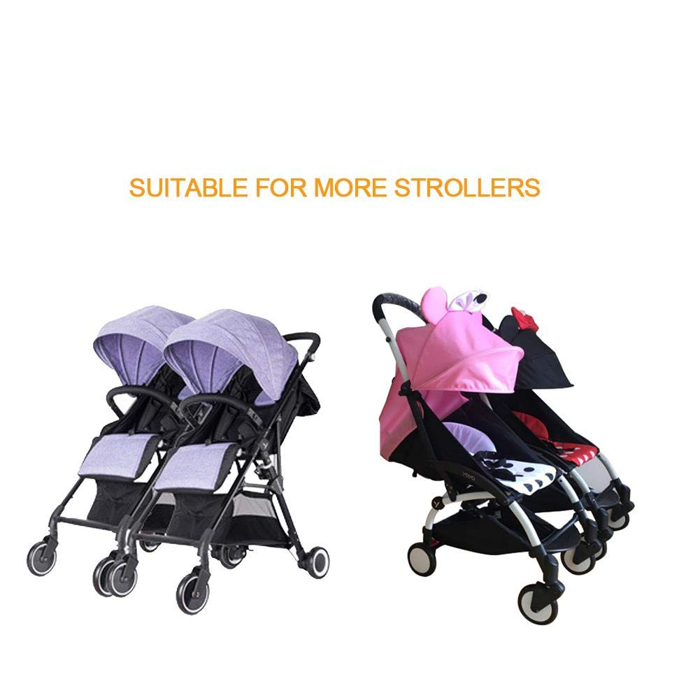 Juman634 Baby Pushchair Connectors for Twins Adjustable Easy Installation Stroller Connector Compatible with 98 strollers