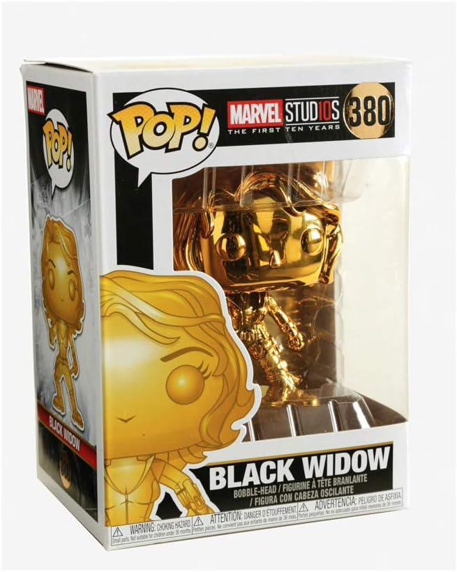 33516 Funko- Pop Bobble Marvel Studios 10: Black Widow Chrome Collectible Figure Multicolour