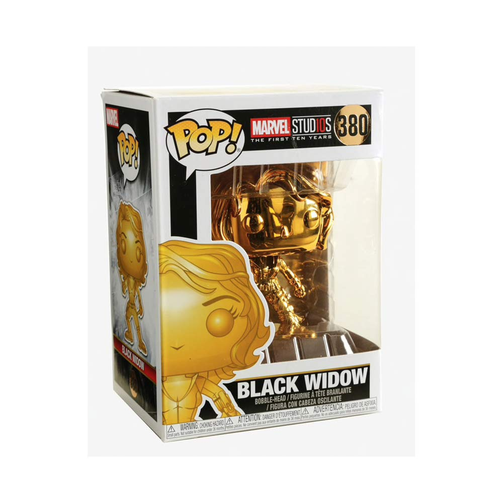 Funko Pop Marvel: Marvel Studios 10 - Black Widow (Gold Chrome) Collectible  Figure, Multicolor
