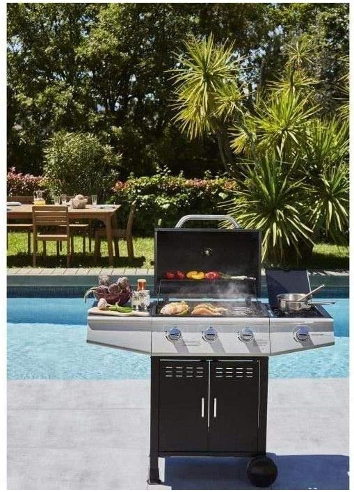 COOKING BOX Barbecue a gaz Paarl 4 feux Grilles