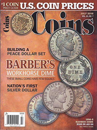 Coins Magazine (July 2016 - Cover: Barber Dimes)
