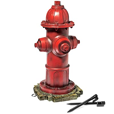LULIND - Dog Fire Hydrant Garden Statue with 2 Stakes, 14 Inches (Small) : Garden & Outdoor