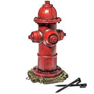 LULIND - Dog Fire Hydrant Garden Statue with 2 Stakes, 14 Inches