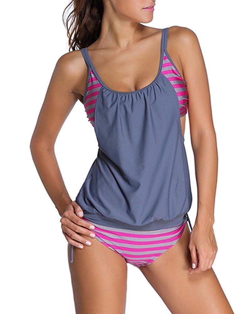 Rubyroom Mujeres Bikini Conjunto Tankini push up Traje de Baño con ...