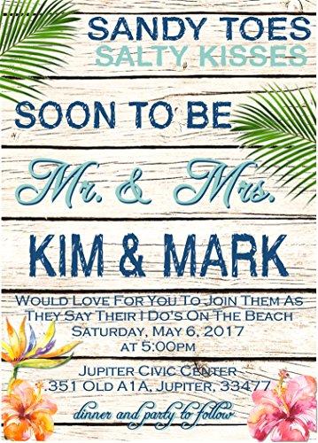 Beach Wedding Inviations & RSVP Card Sets - Set of 10