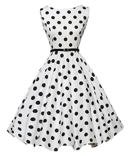 size 40 8db71 6f586 Saoye Fashion Vestito Anni 50 Donna Vintage Rockabilly A ...
