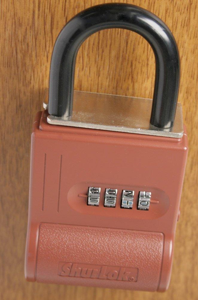 Burgundy ShurLok SL-300W 4 Dial Numbered Key Storage Combination Lock Box
