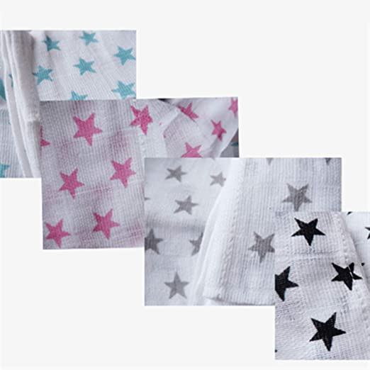 Amazon.com: Peony red 4 Pieces Newborn Muslin Diapers Baby ...