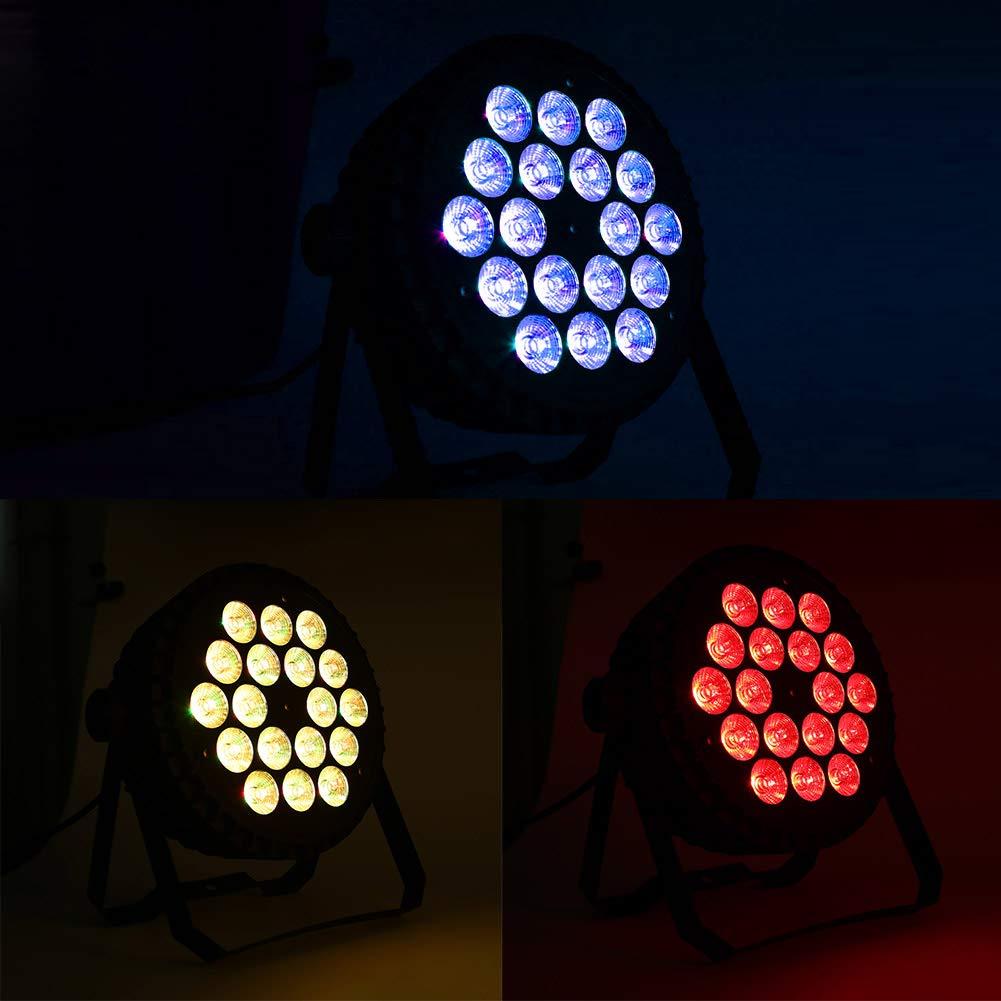 18 LED 180W Lampe de Sc/ène Jeu de Lumi/ère LED Projecteur DJ Effet avec 4 Couleur de D/égradation pour Mariage F/ête Soir/ée Bal Club Bar Eclairage de Sc/ène RGB Lumi/ère F/ête