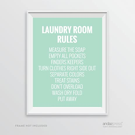Andaz Press Laundry Room Wall Art Decor Signs 85 X 11 Inch Poster