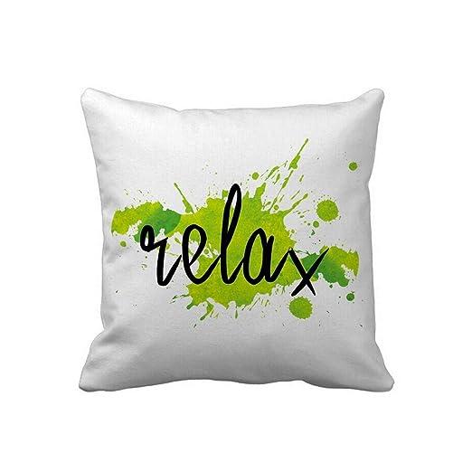 Relajarse funda de almohada Custom texto en verde ...