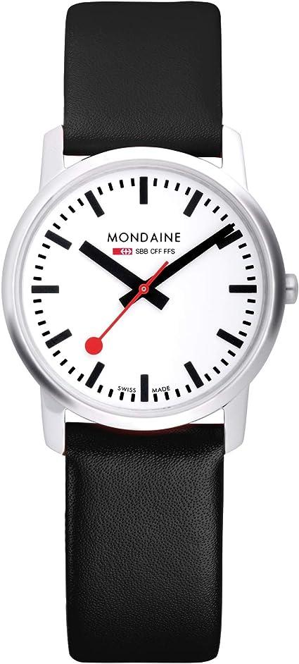 Mondaine Simply Elegant - Reloj de Cuero Negro para Hombre y Mujer, A638.30350.11SBB, 41 MM