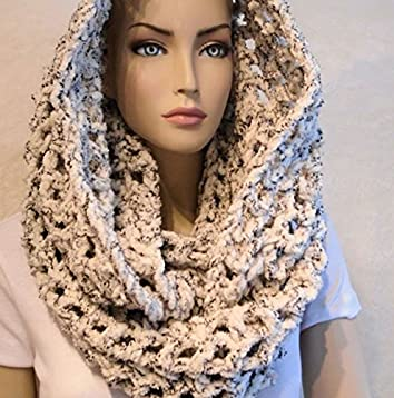 Amazon Crochet Infinity Scarf Crochet Scarf Black And White